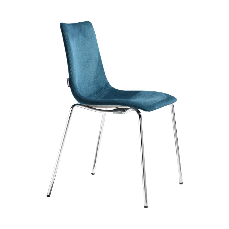 Chairs zebra pop 4 leg frame for Chaise zebre