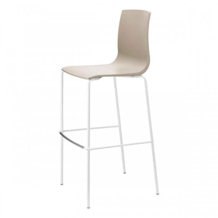 Alice Barstool H.80/H.65 - tubular coated steel