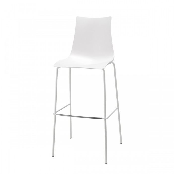 Zebra Technopolymer Barstool h.80/h.65 tubular coated steel