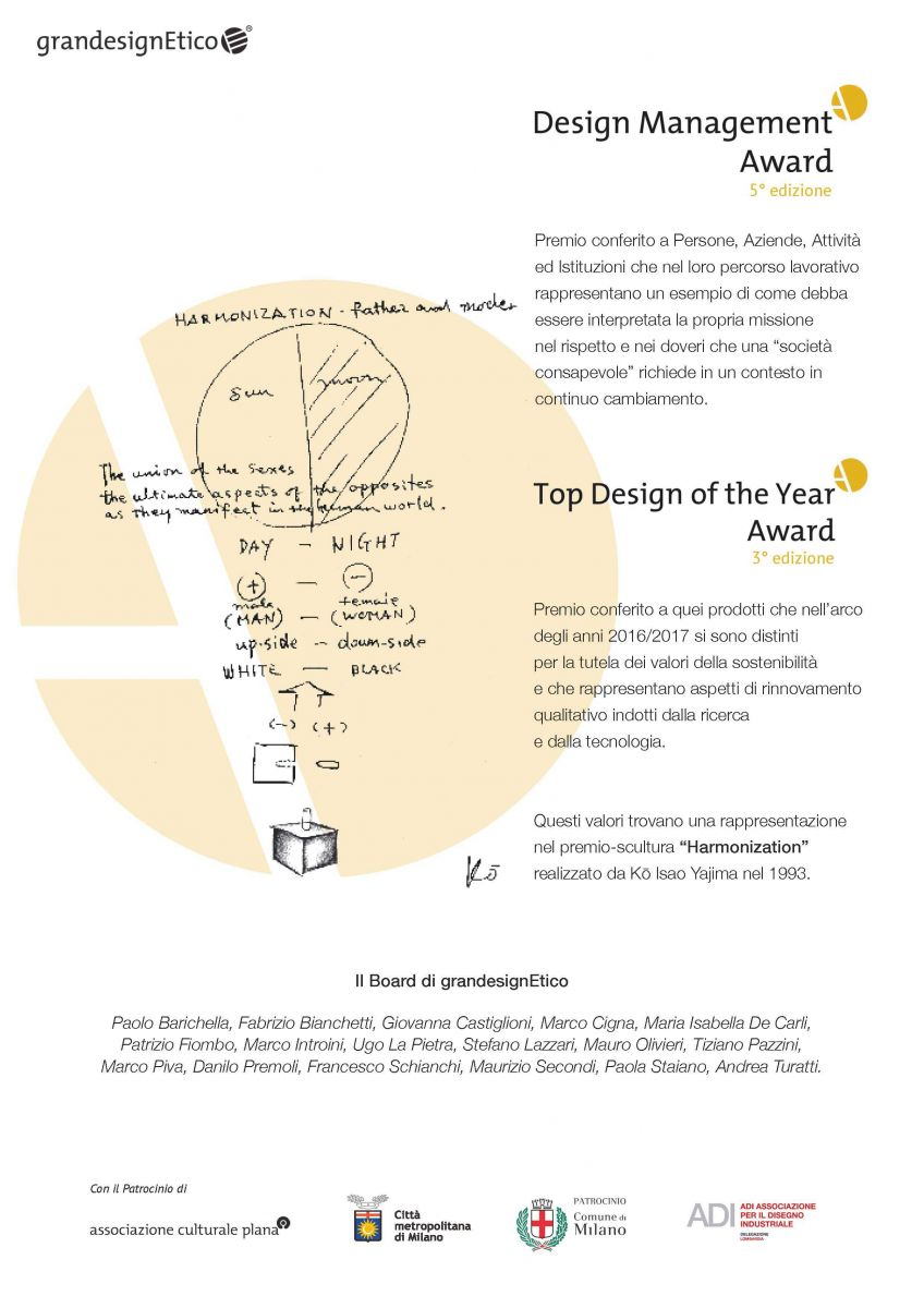 GranDesign Etico premia Natural Giulia Pop con una Menzione d'Onore nella categoria Top Design of The Year