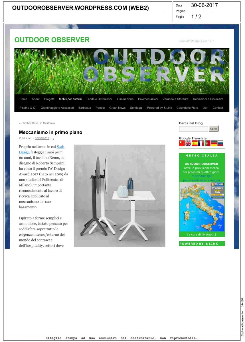 OutdoorObserver.wordpress.com - 30 Giugno 2017