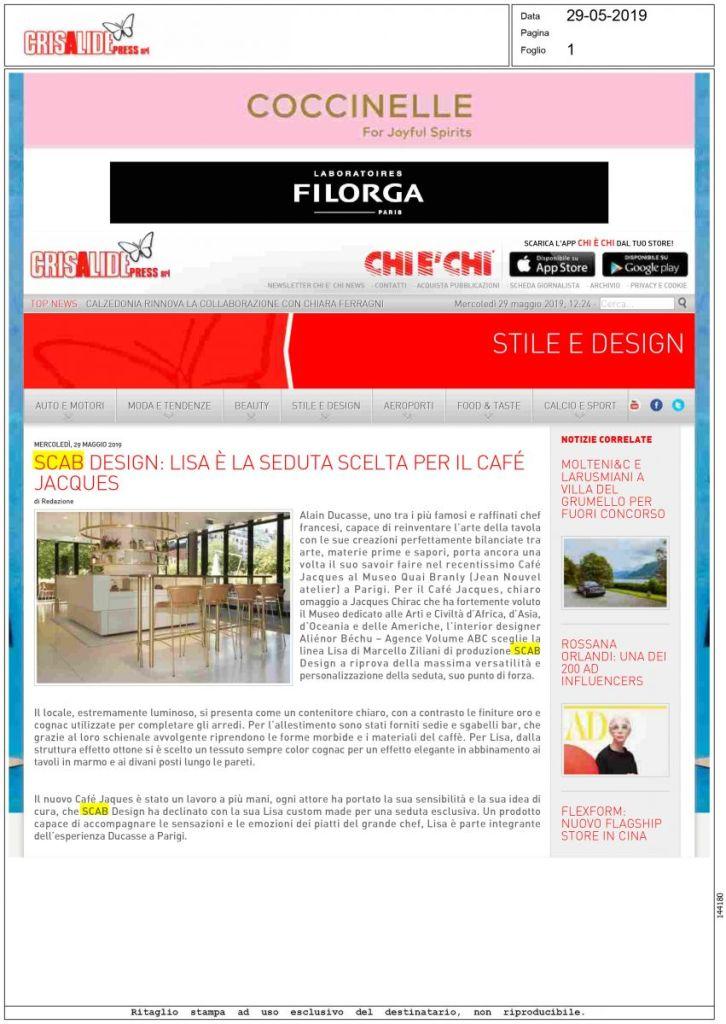 crisalidepress.it - Maggio 2019 - Italia
